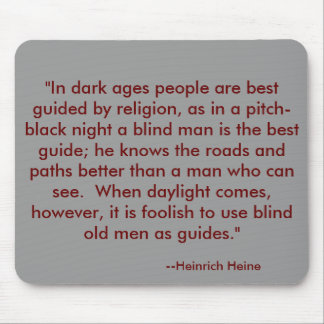 Mouse Pad with religion quote