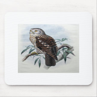 Mouse pad with vintage owl design.