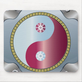 Mouse Pad  -  Ying Yang Red