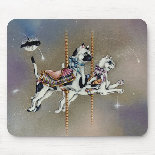 Mouse pads - Carousel Cats SQ