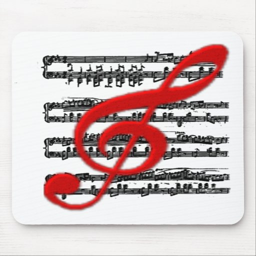 MOUSE PADS-Musical notation