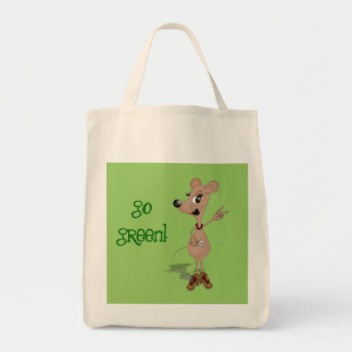 mouse peace girl, go green! Bag. Tote Bag