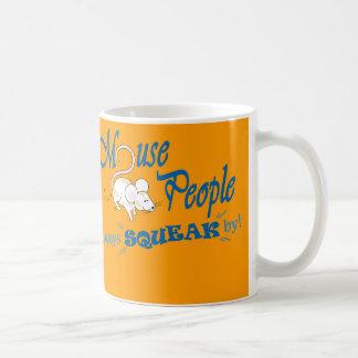 """Mouse People"" (blue text) Coffee Mug"