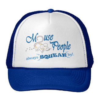 """Mouse People"" (blue text) Trucker Hat"