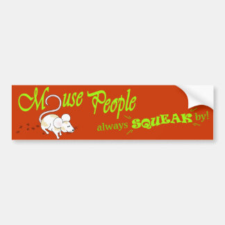 """Mouse People"" (green text) Bumper Sticker"