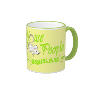 """""""Mouse People"""" (green text) Ringer Mug"""