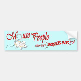 """Mouse People"" (red text) Bumper Sticker"