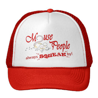 """""""Mouse People"""" (red text) Trucker Hat"""