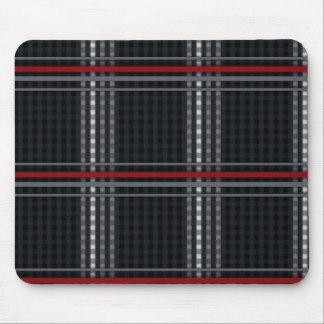 Mouse Plaid Dark Mouse Pad