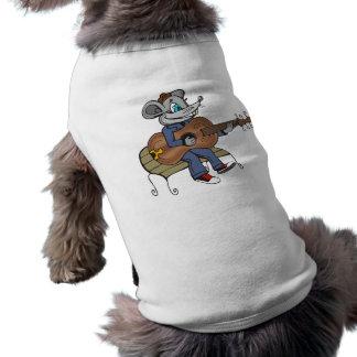 Mouse Playing Guitar Dog T-shirt