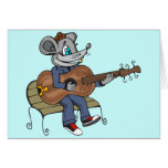 Mouse Playing Guitar Stationery Note Card