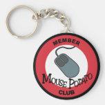 Mouse Potato Club Keychain