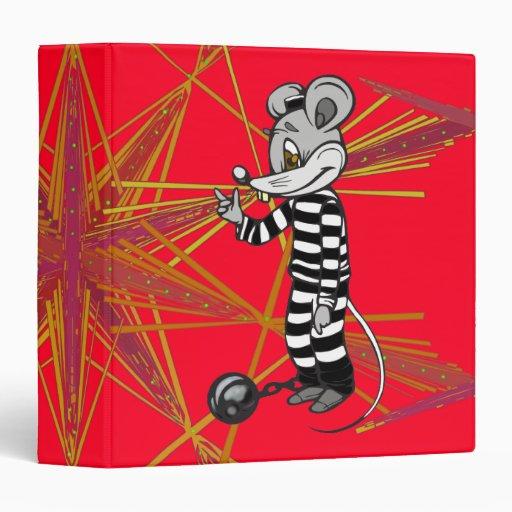Mouse Prisoner 3 Ring Binder