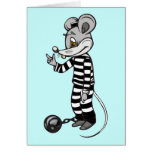 Mouse Prisoner Stationery Note Card
