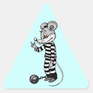 Mouse Prisoner Triangle Sticker