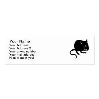 Mouse rat mini business card