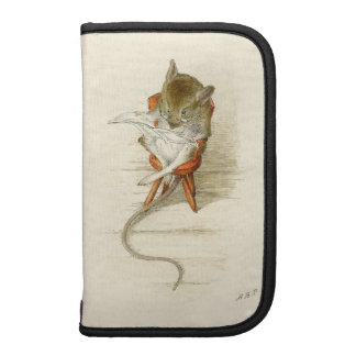 Mouse Reading Newspaper Folio Planner