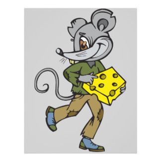 Mouse Runs With Cheese Flyer