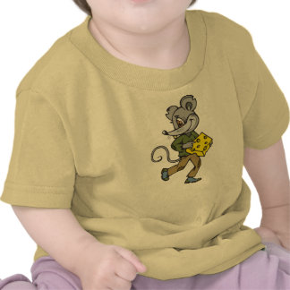 Mouse Runs With Cheese Tshirts