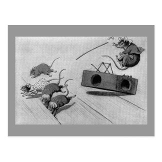 Mouse Safely Springs Mousetrap Postcard
