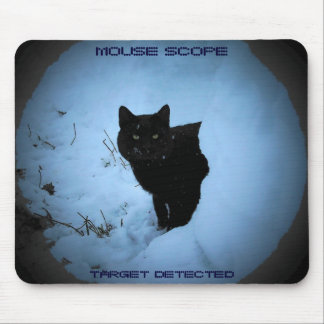 Mouse scope - funny black cat mouse pad
