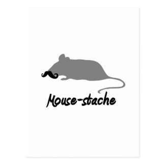 mouse-stache postcard