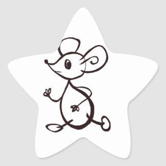 Mouse Star Sticker