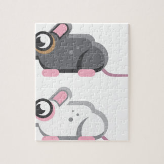 Mouse Stylized vector Icon Jigsaw Puzzle