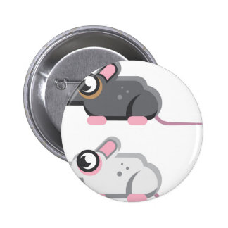 Mouse Stylized vector Icon Pinback Button
