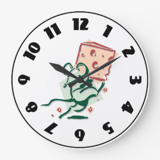 Mouse Taking Cheese Clock