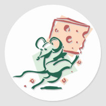 Mouse Taking Cheese Stickers