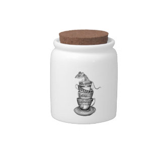 Mouse tea candy jar