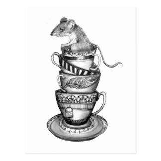 Mouse tea postcard