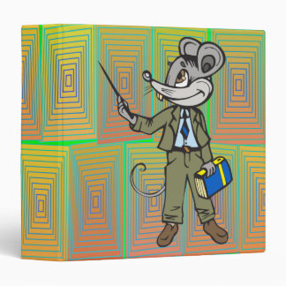 Mouse Teacher 3 Ring Binders