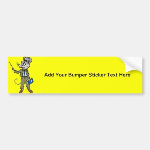 Mouse Teacher Car Bumper Sticker