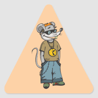 Mouse Teenager Triangle Sticker