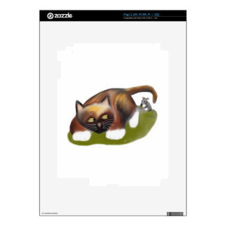 Mouse Tickles Kitten Decal For The iPad 2