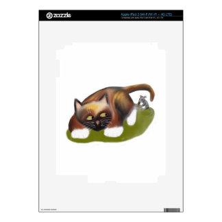 Mouse Tickles Kitten Skin For iPad 3