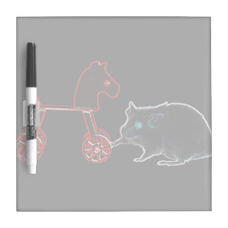 mouse touching wheeled horse outline Dry-Erase board