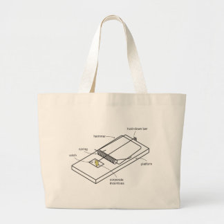 mouse trap tote bags