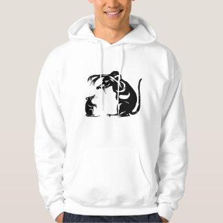 mouse versus rat hoodie