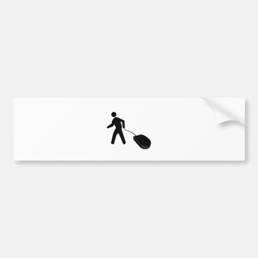 mouse walking car bumper sticker