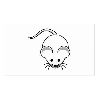Mouse (White) Cartoon Business Card