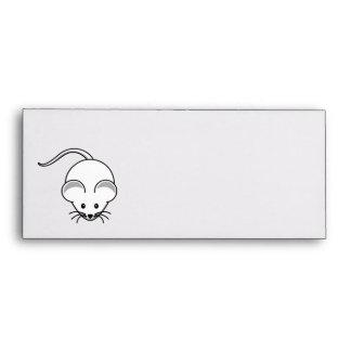 Mouse (White) Cartoon Envelopes