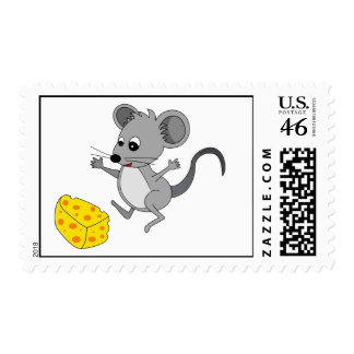 Mouse with Cheese Stamps