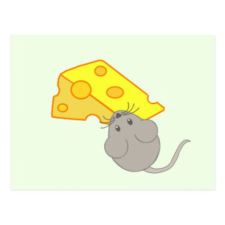 Mouse with Cheese Postcard