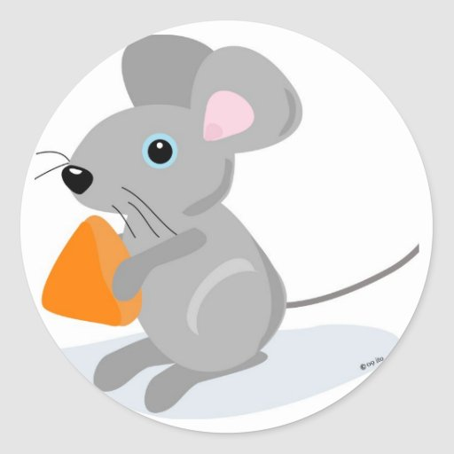 MOUSE WITH CHEESE STICKERS