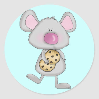 Mouse with Cookies Tshirts and Gifts Classic Round Sticker