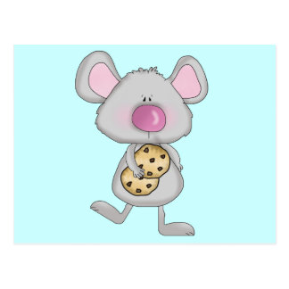 Mouse with Cookies Tshirts and Gifts Postcard
