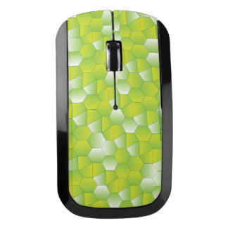 Mouse with custom green geometric design